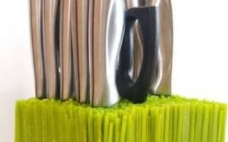Подставка для ножа своими руками: фото-подборка в статье