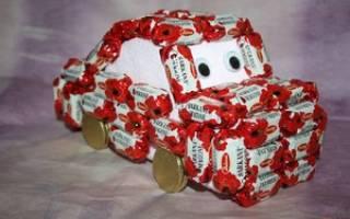 Автомобиль из конфет: мастер класс своими руками и видео-подборка