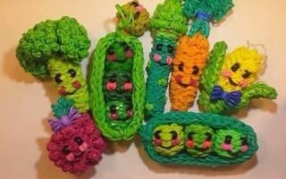 Плетение из резинок: фрукты и овощи для начинающих мастеров