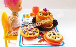 Как сделать еду для кукол из пластилина: еда для монстер хай и для барби