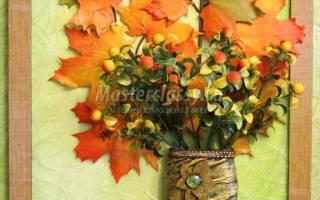 Панно из листьев своими руками: делаем на тему осень