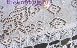 Мастер-класс по вязанию спицами скатерти со схемами на русском языке