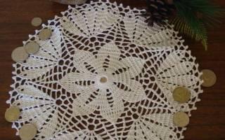 Денежные салфетки крючком – схемы с описанием
