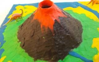 Как сделать вулкан из пластилина своими руками: модель и выполнение поэтапно в домашних условиях