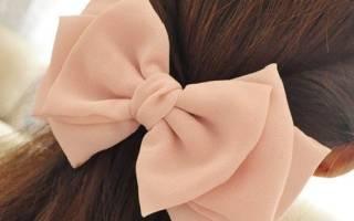 Бант для волос: мастер класс своими руками из атласной ленты