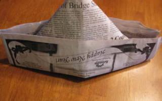 Шапка из газеты: как сделать самому одежду для ремонта в доме