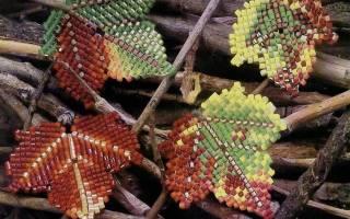 Листья из бисера: мастер класс и схемы плетения; как сделать своими руками
