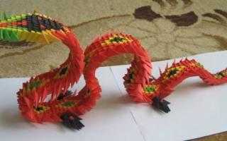 Дракон: модульное оригами по мастер классу и пошаговая инструкция