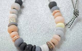 Бусы из полимерной глины: мастер класс своими руками
