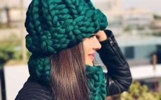 Женская шапка крупной вязки: схема как делать спицами