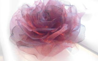 Цветок из фатина: мастер класс с фото
