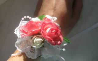 Бутоньерка своими руками: делаем для подружки невесты из полимерной глины и из лент