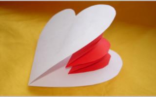 Валентинка из бумаги: мастер класс своими руками