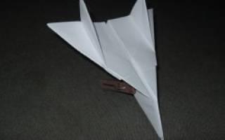 Самолет из бумаги: оригами мастер класс и инструкция