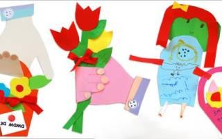Детская открытка своими руками: варианты с 8 марта и с 23 февраля и на 9 мая