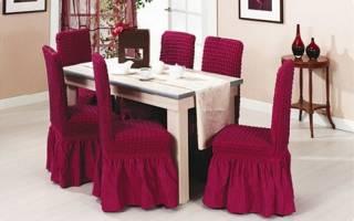 Мастер класс по чехлам на стулья: идеи, схемы и описание