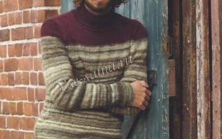 Вяжем мужской свитер: делаем спицами для начинающих