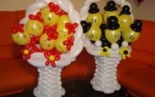 Корзина из шаров с фото: пошаговая инструкция и мастер класс