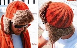 Шапка для мальчика спицами: описание как связать шапку ушанку на зиму