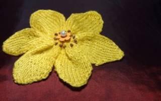 Цветок спицами: схема и мастер класс для начинающих