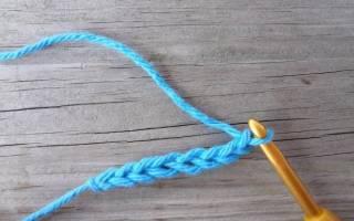 Воздушная петля крючком для начинающих: как вязать по фото