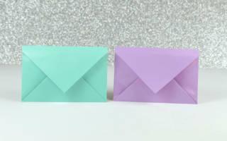 Оригами конверт: схема как сделать своими руками (с фото-инструкцией и видео-уроком)