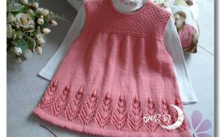 Детское вязаное платье: фото в статье