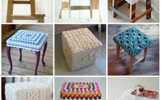 Чехлы на табуреты: делаем квадратные модели на кухню