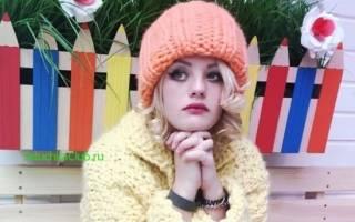 Вязание женской шапки: крупная вязка просто и быстро