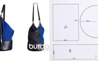 Выкройка рюкзака: как сшить портфель своими руками