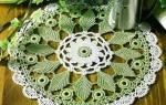 Cалфетки крючком со схемами и описанием: овальная салфетка, салфетка подсолнух и квадратные салфетки своими руками