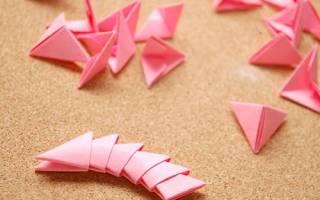 Схемы оригами из модулей: простые варианты для начинающих мастеров