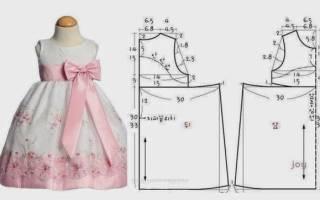Выкройки детских платьев и сарафанов: как сделать построение