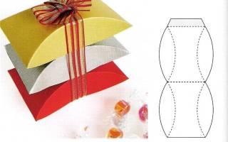 Коробка для подарка своими руками: мастер класс с пошаговыми фото и схема выполнения