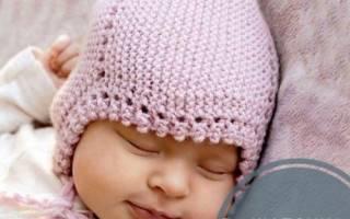 Ажурная шапочка для девочки спицами: делаем для новорожденного