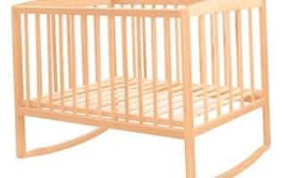 Кроватка для новорожденного своими руками: размеры с фото