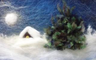 Картина из шерсти для начинающих: море, подсолнухи, розы, сирень и сова