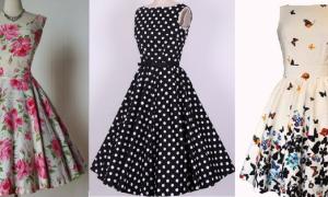 Выкройка винтажных платьев: делаем своими руками для девочек и для кукол