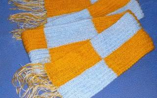 Детский шарф спицами: схема и описание c видео