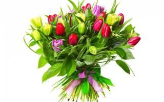 Букет из тюльпанов своими руками: делаем пошагово