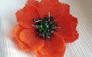 Мастер класс по маку из бисера: мозаичное плетение и схема с фото