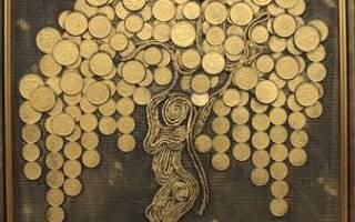 Картина денежное дерево: делаем своими руками