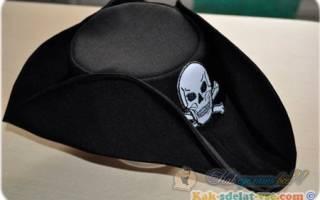 Шляпа пирата своими руками: схема исполнения и пошаговый мк с фото и видео-уроками