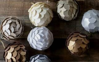 Новогодние шары своими руками: варианты в технике артишок и в технике кинусайга