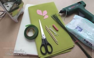 Фоамиран цветы: мастер- класс для начинающих и шаблоны с фото