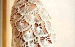 Турецкая шаль на карточке: схема с фото