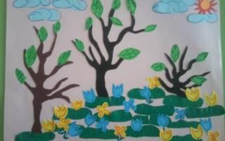 Аппликации на тему весна: делаем для детей