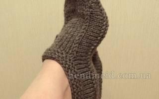 Как связать домашние тапочки спицами: схемы вязания для начинающих
