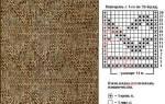 Ромбы спицами: схемы и описание c фото-подборкой