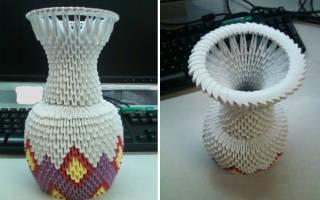 Оригами ваза: мастер класс и схема вазы для изготовления в домашних условиях с детьми